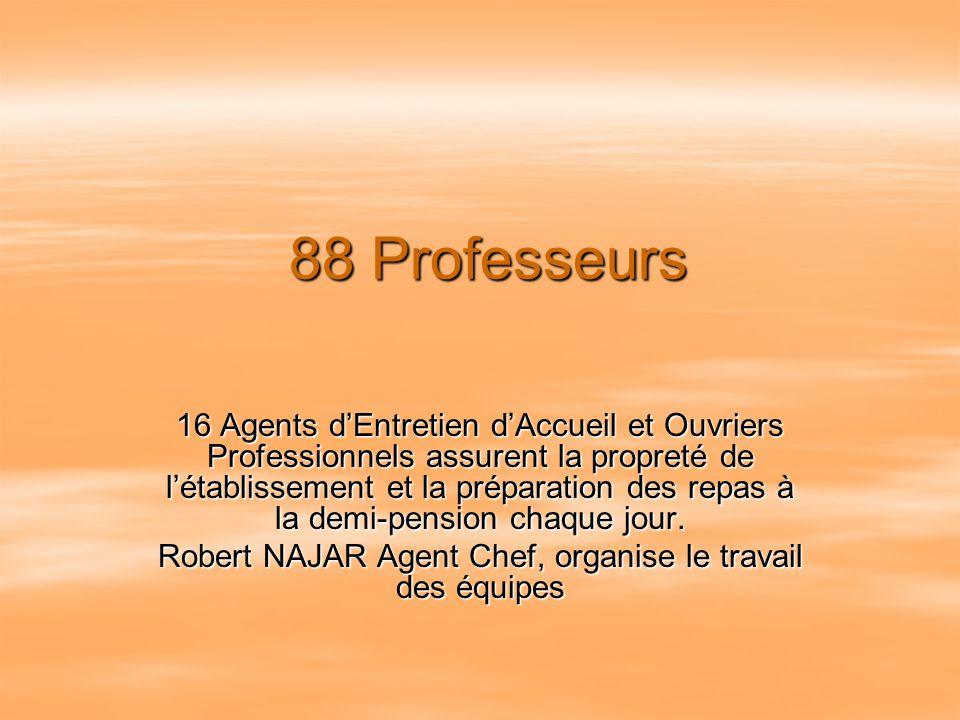 Robert NAJAR Agent Chef, organise le travail des équipes
