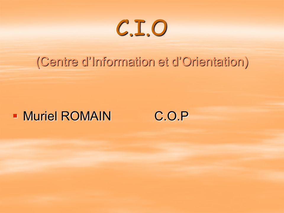 (Centre d'Information et d'Orientation)