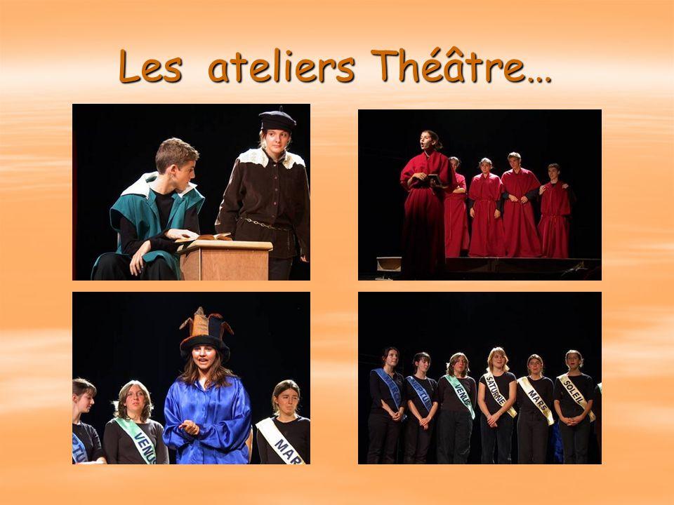 Les ateliers Théâtre…