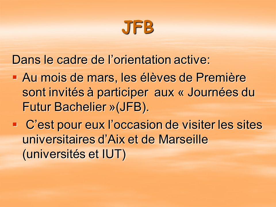 JFB Dans le cadre de l'orientation active: