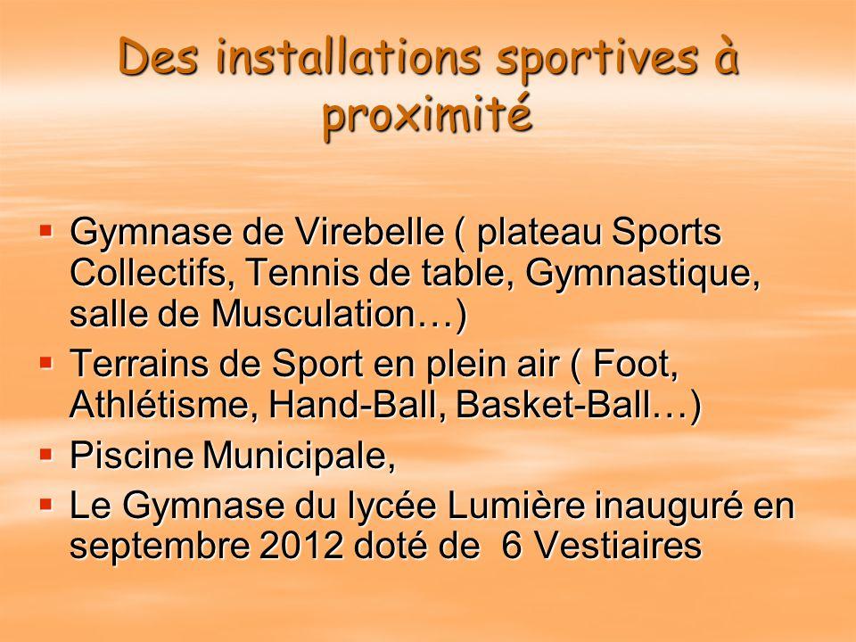 Des installations sportives à proximité