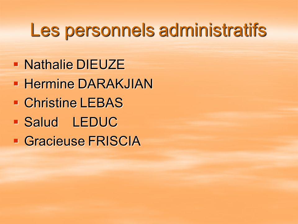 Les personnels administratifs