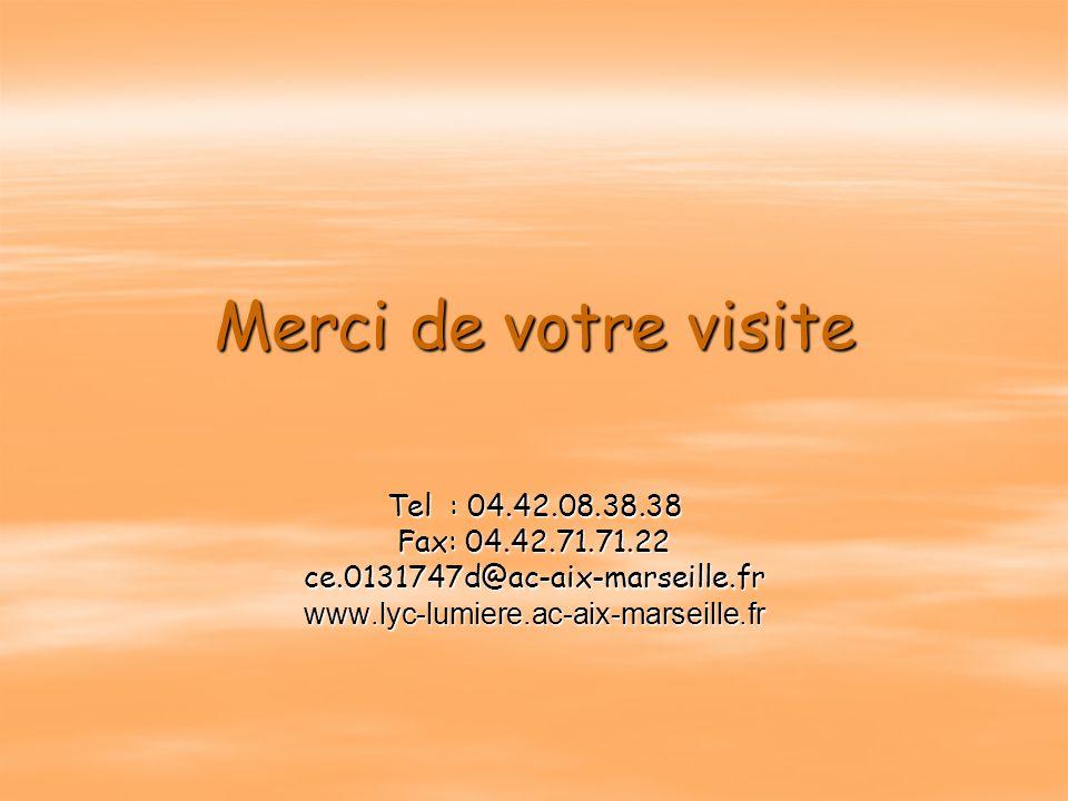 Merci de votre visite Tel : 04.42.08.38.38 Fax: 04.42.71.71.22
