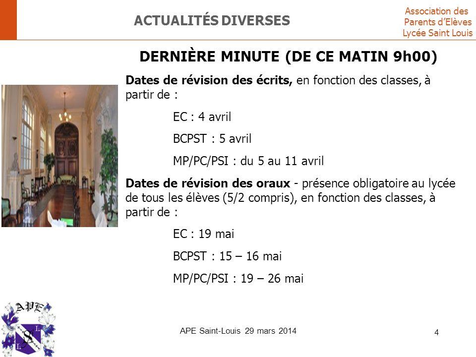 Actualités diverses DERNIÈRE MINUTE (DE CE MATIN 9h00)