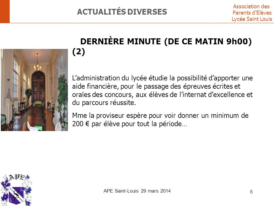 Actualités diverses DERNIÈRE MINUTE (DE CE MATIN 9h00) (2)