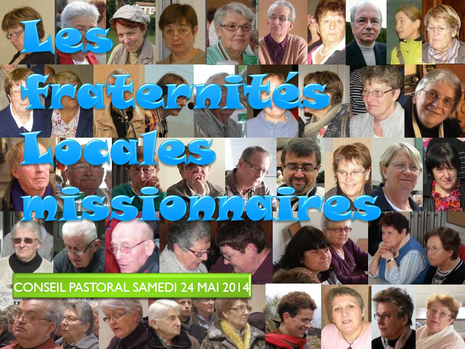 Conseil Pastoral Samedi 24 mai 2014