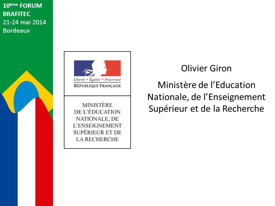 10ème FORUM BRAFITEC. 21-24 mai 2014. Bordeaux. Olivier Giron.