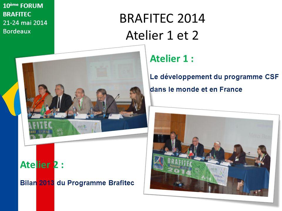 BRAFITEC 2014 Atelier 1 et 2 Atelier 1 : Atelier 2 : 10ème FORUM