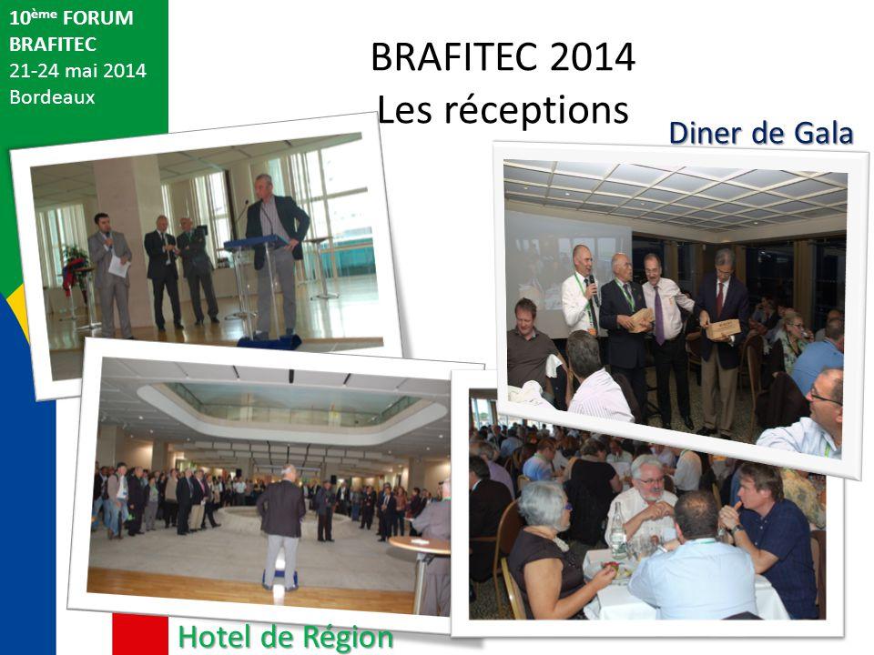 BRAFITEC 2014 Les réceptions Diner de Gala Hotel de Région 10ème FORUM