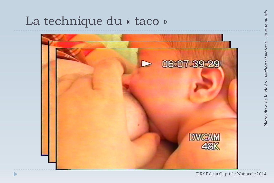 Photos tirée de la vidéo : Allaitement maternel : la mise au sein