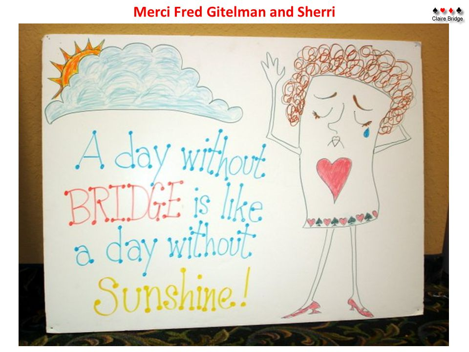 Merci Fred Gitelman and Sherri