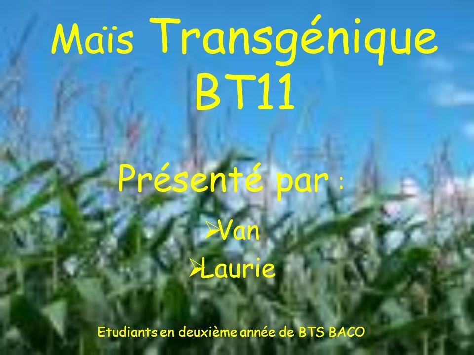 Présenté par : Van Laurie Etudiants en deuxième année de BTS BACO