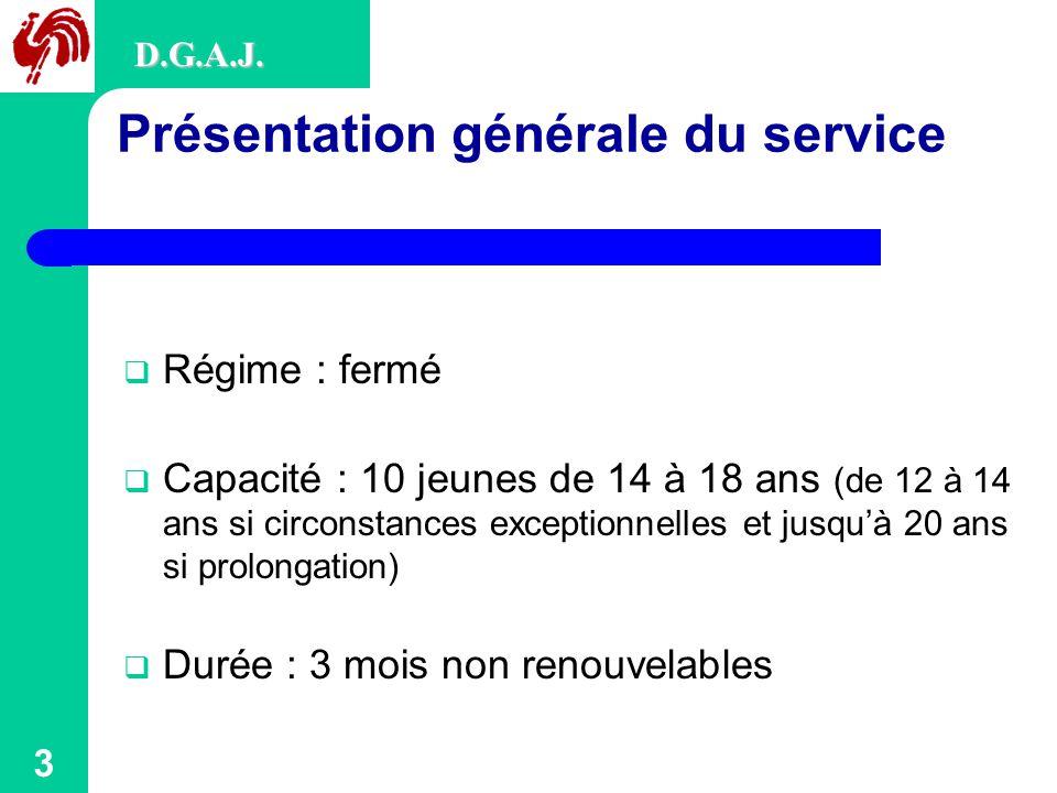 Présentation générale du service