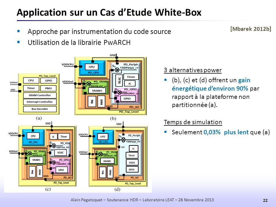 Application sur un Cas d'Etude White-Box