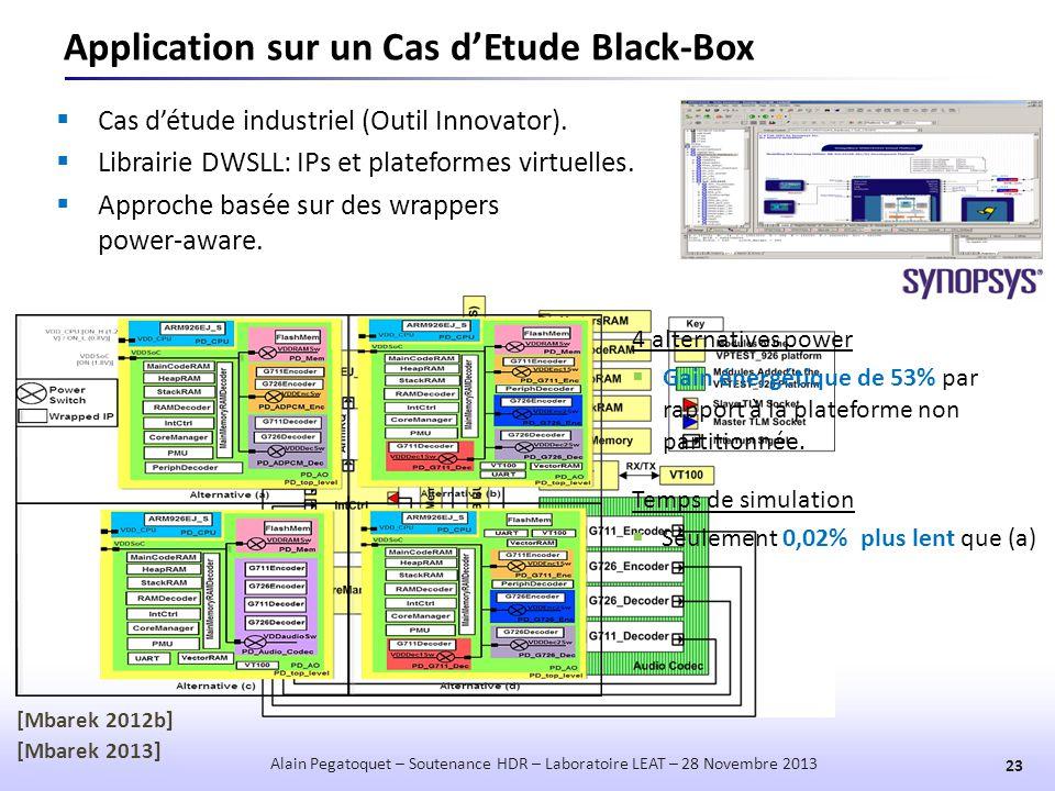Application sur un Cas d'Etude Black-Box