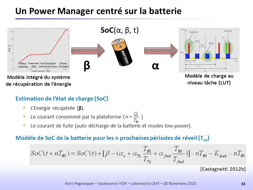 Un Power Manager centré sur la batterie