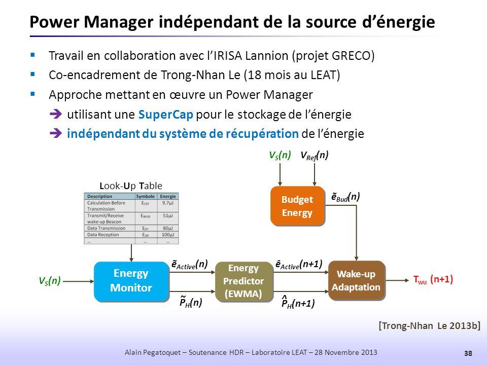 Power Manager indépendant de la source d'énergie