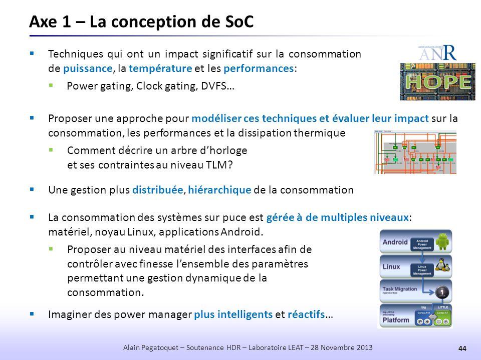 Axe 1 – La conception de SoC