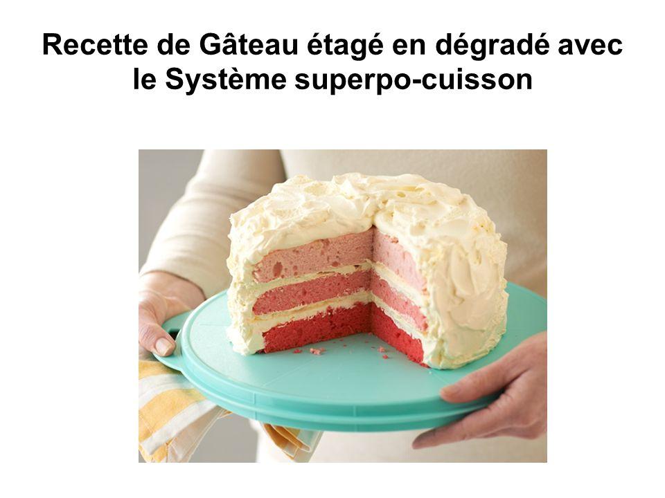 Recette de Gâteau étagé en dégradé avec le Système superpo-cuisson