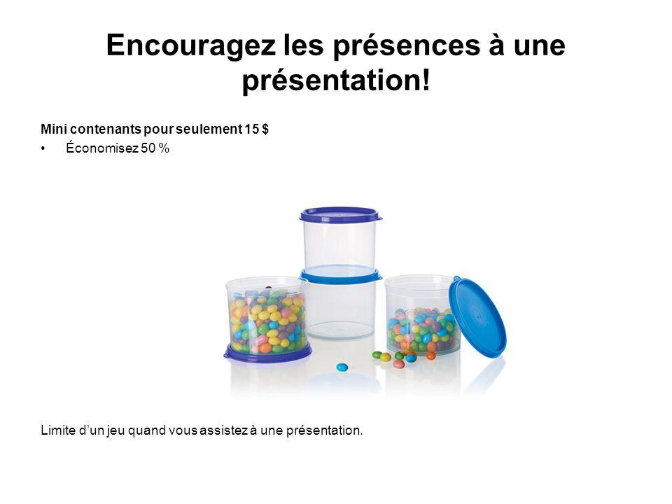 Encouragez les présences à une présentation!