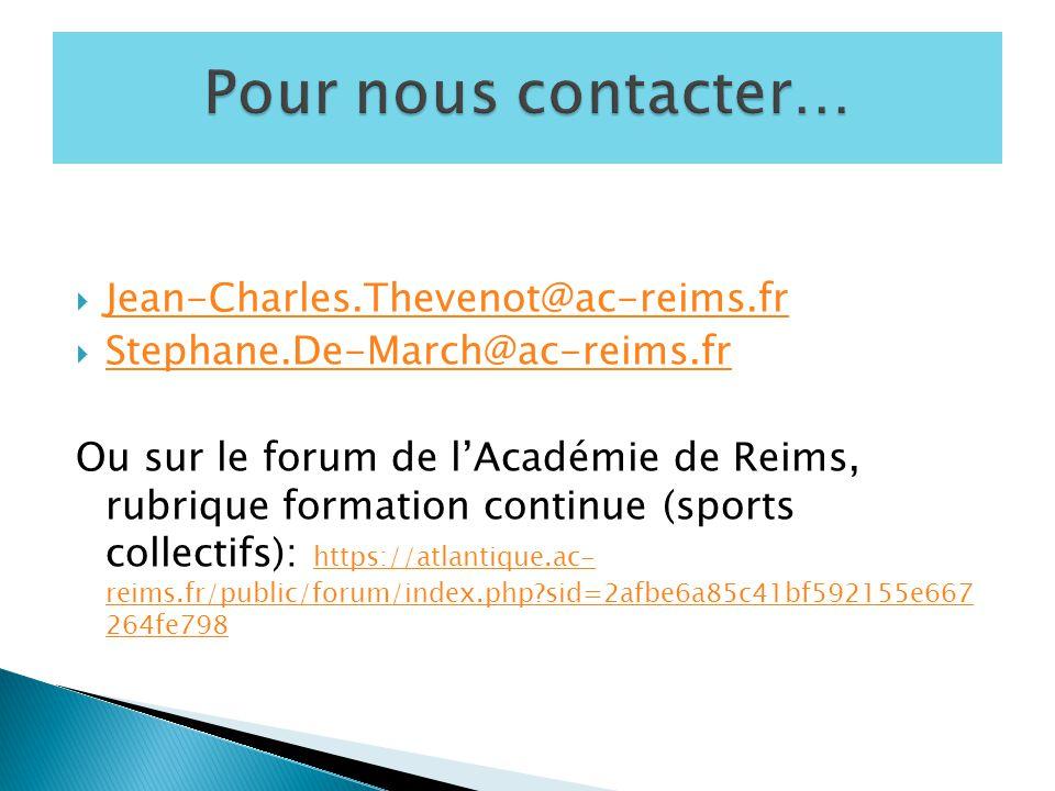 Pour nous contacter… Jean-Charles.Thevenot@ac-reims.fr