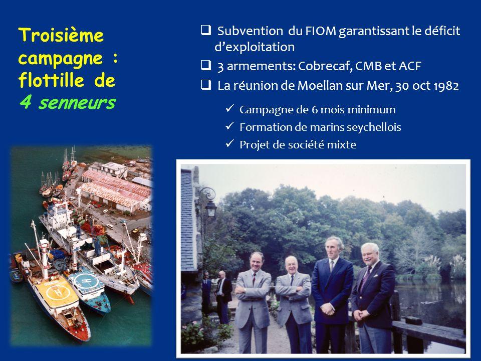 Troisième campagne : flottille de 4 senneurs