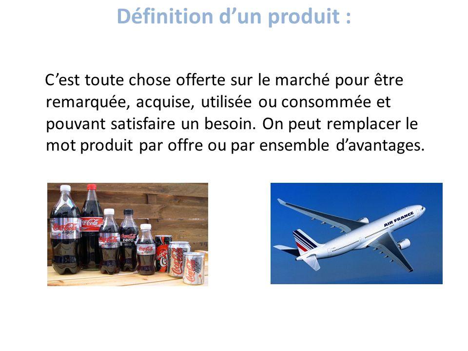 définition d'un produit :
