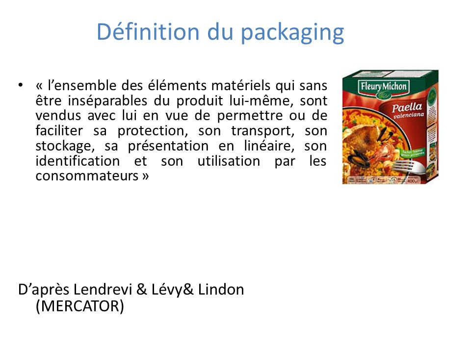 Définition du packaging
