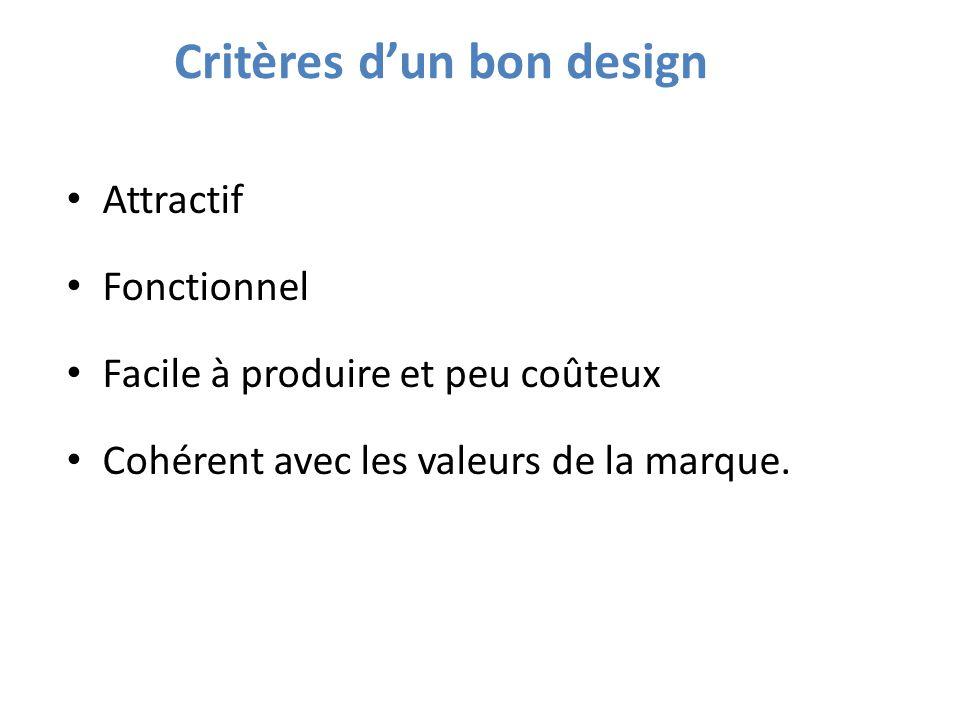 Critères d'un bon design