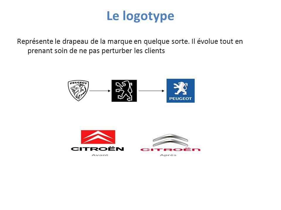 Le logotype Représente le drapeau de la marque en quelque sorte.