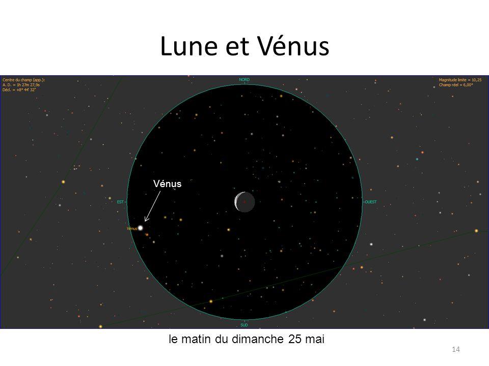 Lune et Vénus Vénus le matin du dimanche 25 mai
