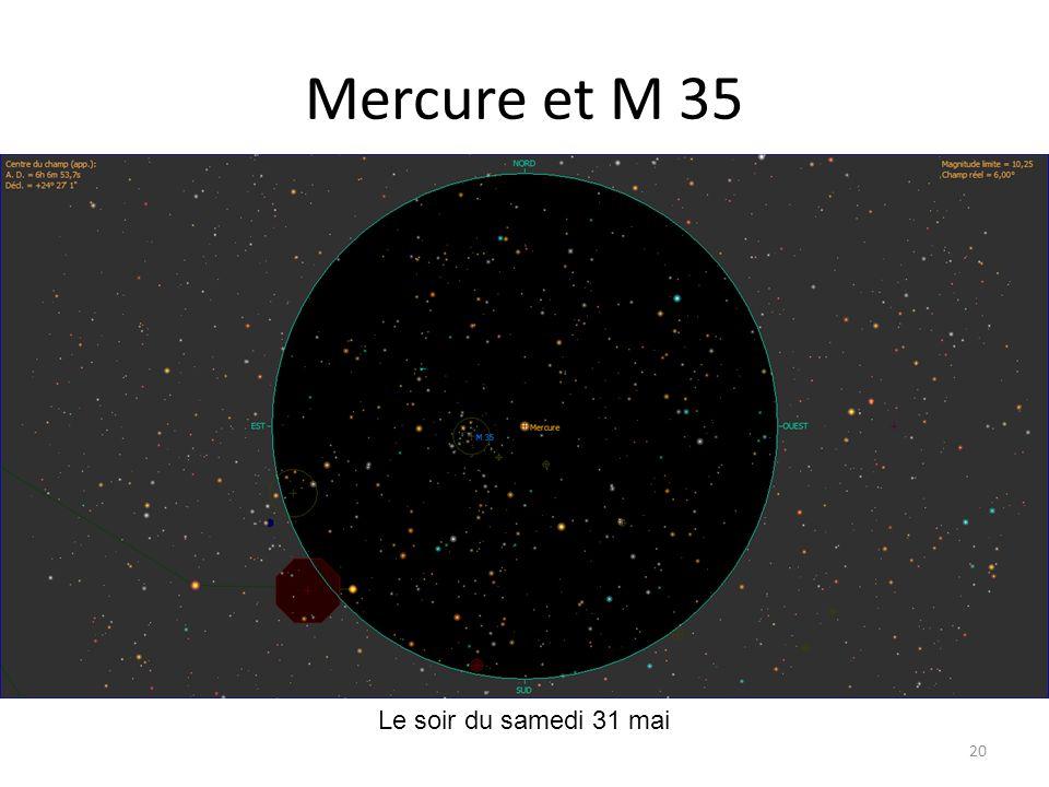 Mercure et M 35 Le soir du samedi 31 mai