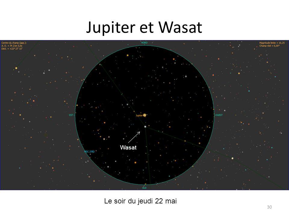 Jupiter et Wasat Le soir du jeudi 22 mai Io Io Europe Callisto