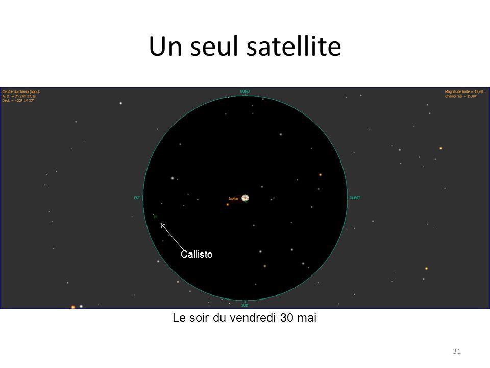 Un seul satellite Callisto Le soir du vendredi 30 mai