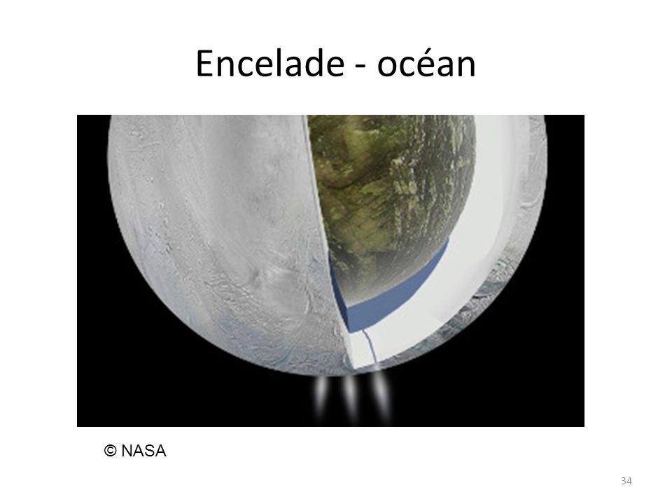 Encelade - océan © NASA