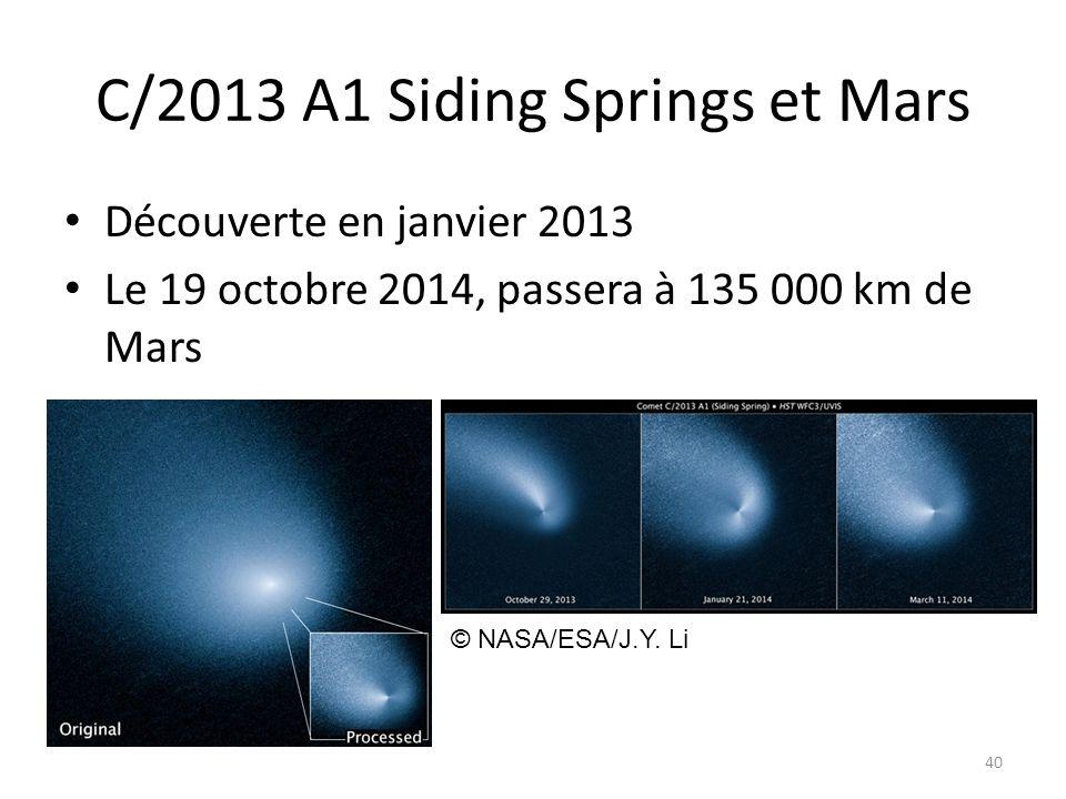 C/2013 A1 Siding Springs et Mars