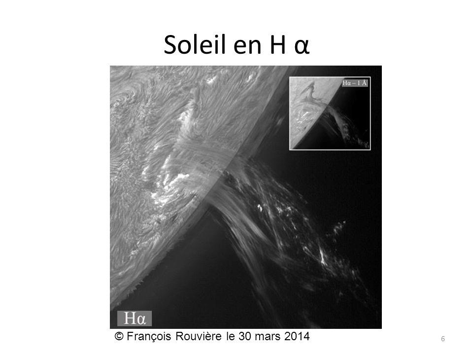 Soleil en H α © François Rouvière le 30 mars 2014