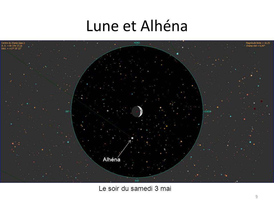 Lune et Alhéna Alhéna Le soir du samedi 3 mai