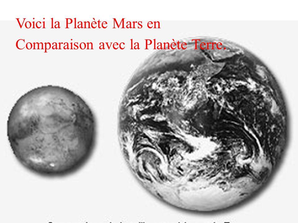 Voici la Planète Mars en