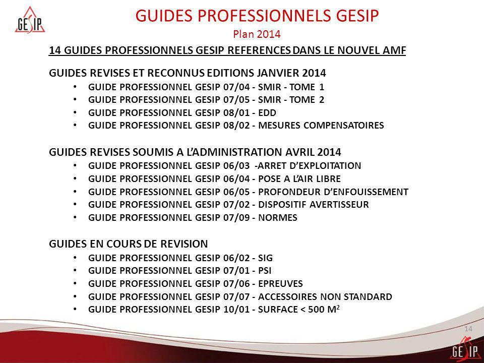 GUIDES PROFESSIONNELS GESIP