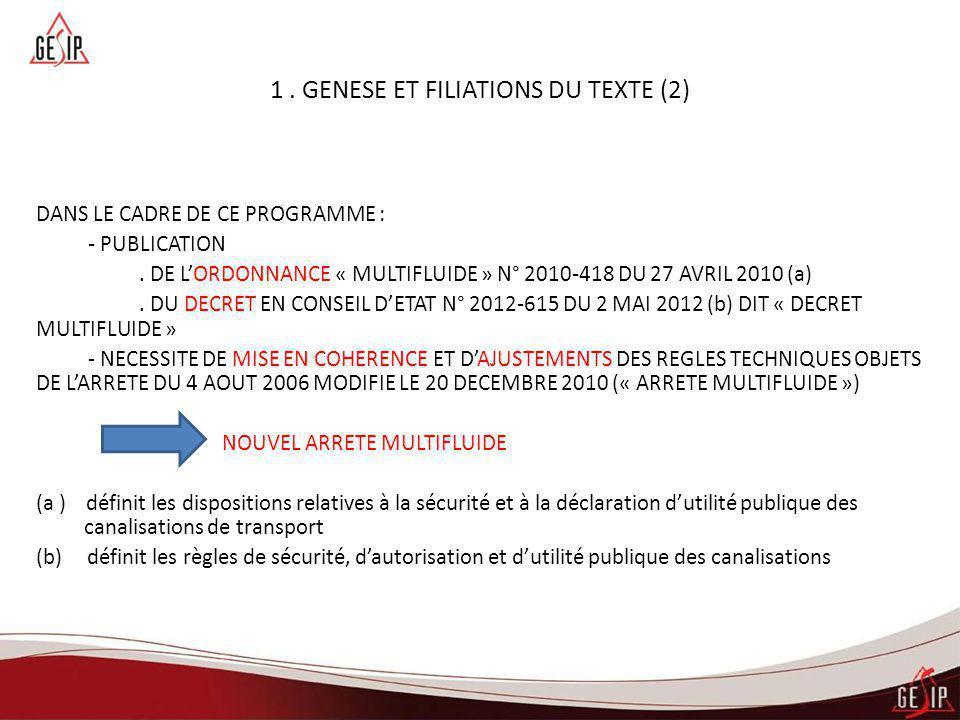 1 . GENESE ET FILIATIONS DU TEXTE (2)