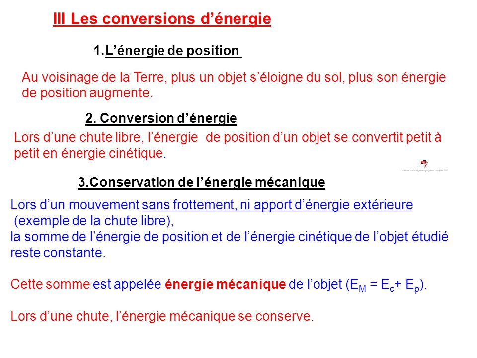 III Les conversions d'énergie