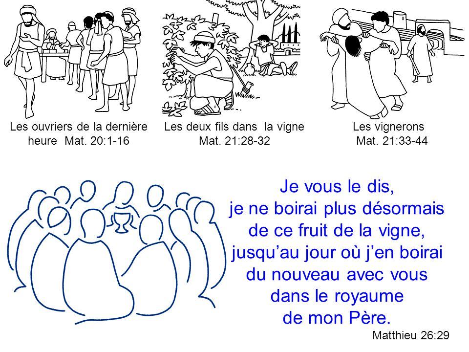 Les ouvriers de la dernière heure Mat. 20:1-16