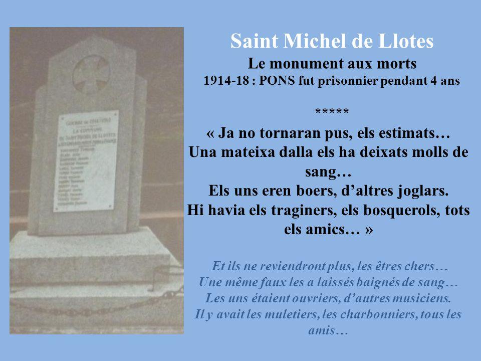 Saint Michel de Llotes Le monument aux morts