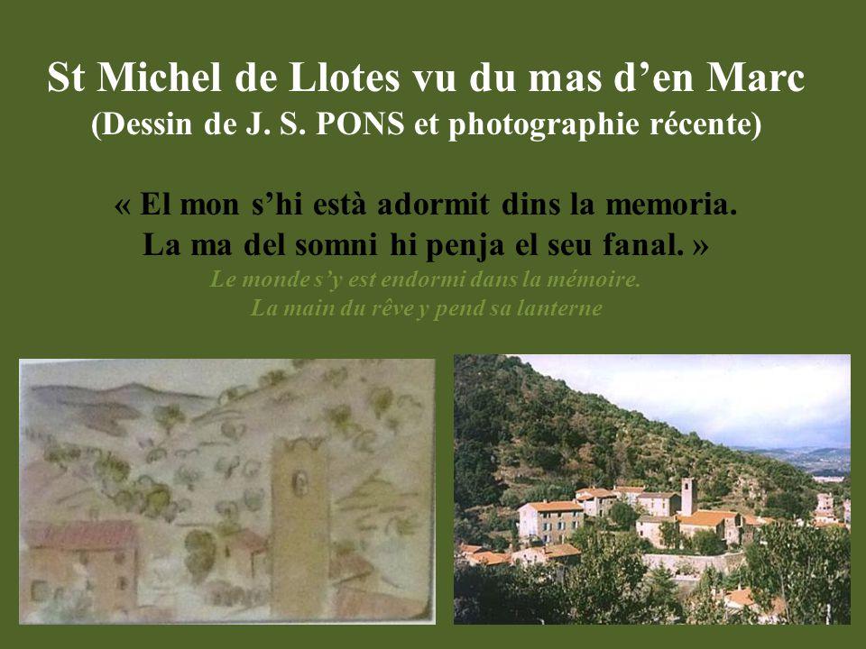 St Michel de Llotes vu du mas d'en Marc