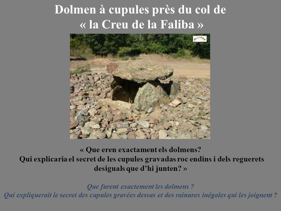 Dolmen à cupules près du col de « la Creu de la Faliba »