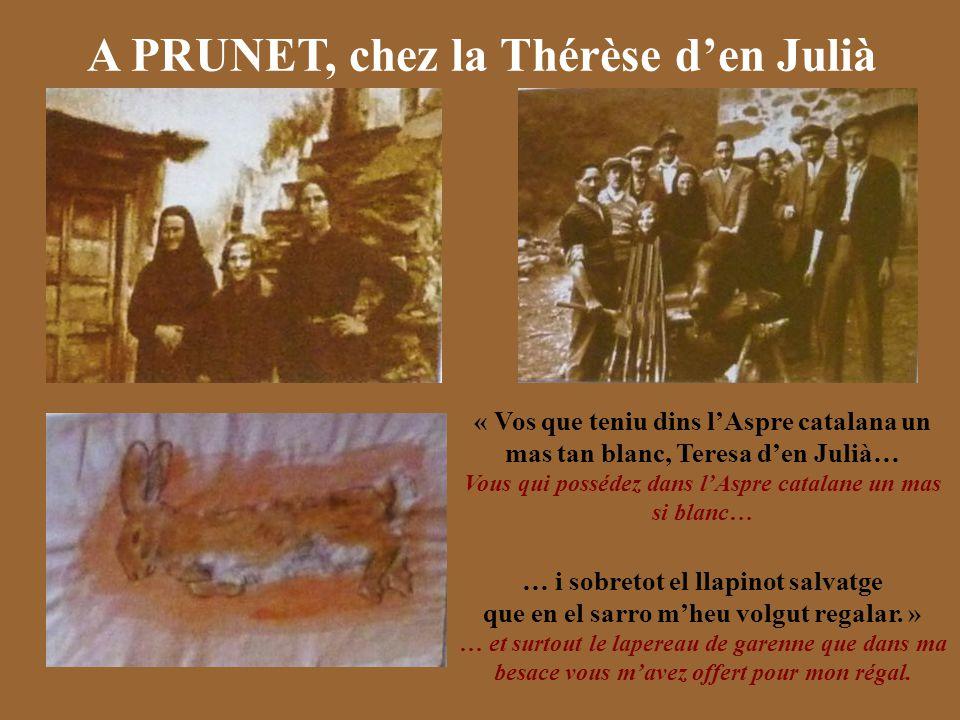 A PRUNET, chez la Thérèse d'en Julià