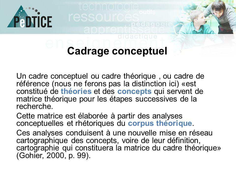 Cadrage conceptuel