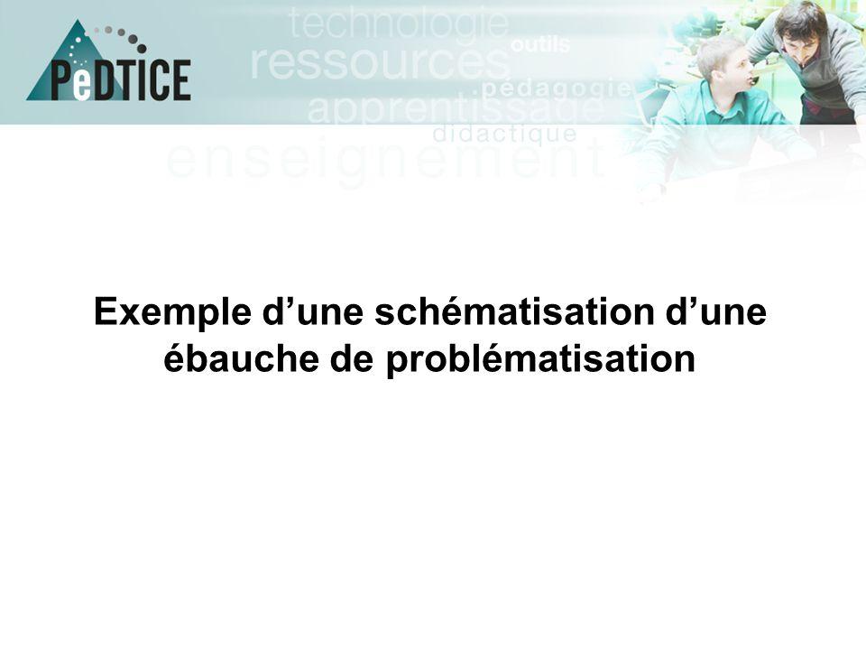 Exemple d'une schématisation d'une ébauche de problématisation