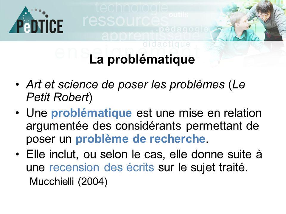 La problématique Art et science de poser les problèmes (Le Petit Robert)